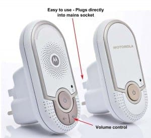 Motorola MBP8 Digital Audio Baby Monitor